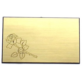 PLAQUE CHANFREIN - ROSE